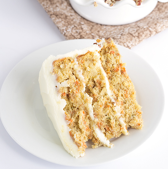 Carrot Cake With Crushed Pineapple And Cream Cheese Frosting