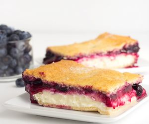 Blueberry Cream Cheese Danish with Crescent Rolls