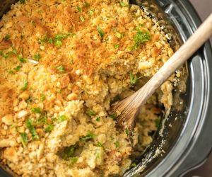 Slow Cooker Broccoli Rice Casserole