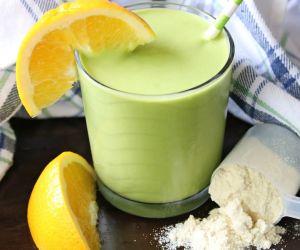 Power-Packed Orange Mango Green Smoothie