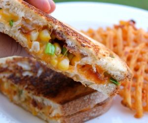 Sweet Corn and Bacon Grilled Cheese