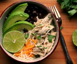 Salsa Verde Chicken Rice Bowls