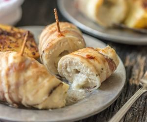 Pancetta Wrapped Chicken Rollups