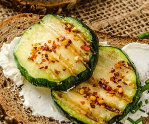 Sandwich with Mexican Tofu Spread and Grilled Zucchini