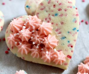 Valentine's Sugar Cookies with Vanilla Buttercream Frosting