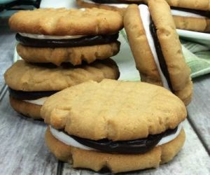 Peanut Butter Smores Cookies