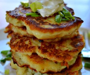 Crispy Pepper Jack Potato Cakes