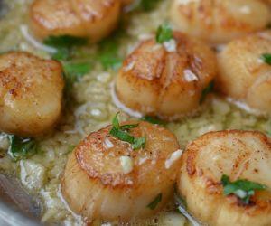 Seared Garlic Lemon Butter Scallops