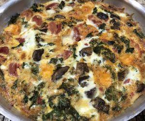 Tomato, Kale & Mushroom Frittata