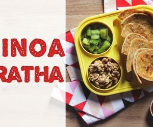 Easy steps to make quinoa paratha recipe