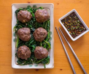 Keto Asian Meatballs Recipe with Dipping Sauce [Paleo, Dairy-Free]
