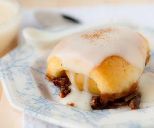 Apple Pecan Croissants with Butterscotch Schnapps Sauce