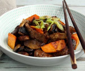 AIP Beef Teriyaki Recipe with Sweet Potato Chunks