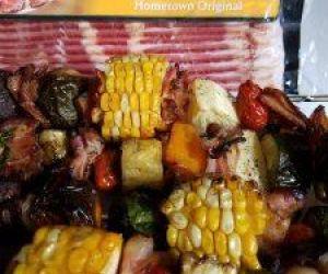 BBQ Bacon & Pineapple Shish Kabobs