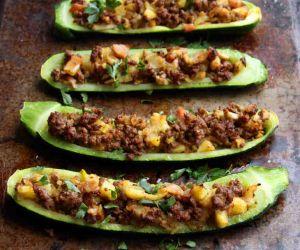 AIP Stuffed Zucchini Boats Recipe