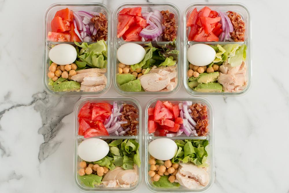 Weight Watchers Meal Prep Recipe Chicken Cobb Salad