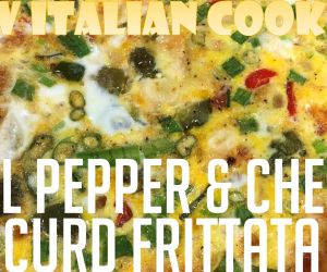 Bell Pepper & Cheese Curd Frittata