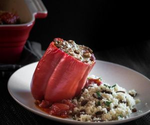 Turkey and Lentil Stuffed Bell Peppers - Blogtastic Food