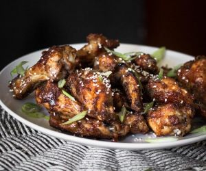 Spicy Honey Soy Mustard Chicken Wings Recipe - Blogtastic Food