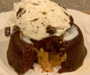 Instant Pot Chocolate Peanut Butter Lava Cake