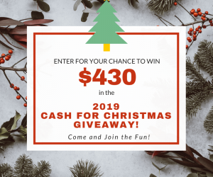 Cash for Christmas Giveaway 2019