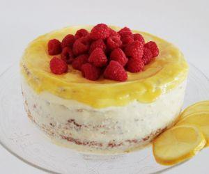 Lemon curd raspberry cake gluten-free