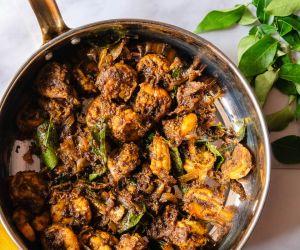 Curry Leaves Prawn Fry