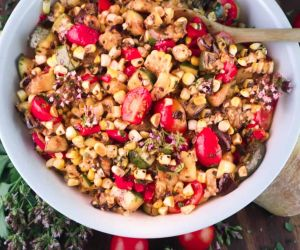 Charred Corn Salad with Grilled Summer Vegetables