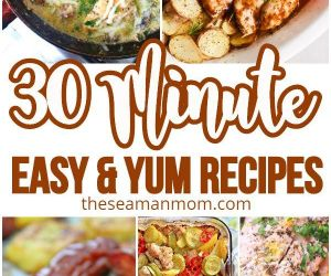30 Minute Meal Ideas | Easy Peasy Creative Ideas