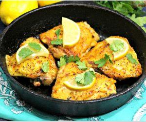 Lemon Lime Cilantro Cast Iron Chicken