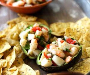 Scallop and Shrimp Seafood Salad