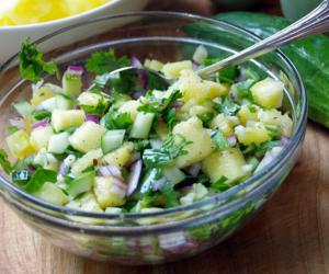 Pineapple Cucumber Salsa Recipe