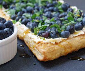 Fresh Blueberry Tart Recipe with Basil and Honey