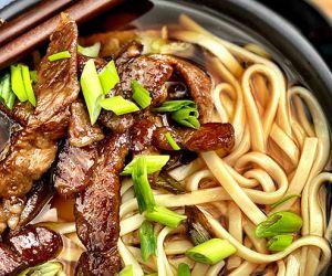 Niku Udon (Japanese Meat Udon) with Miyazakigyu Wagyu Strip Steak+
