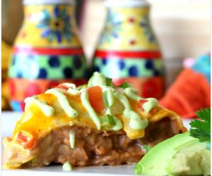 EASY TACO BAKE WITH AVOCADO DRIZZLE
