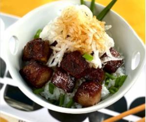 Garlic Saikoro Steak with Miyazakigyu Wagyu Beef Cubes