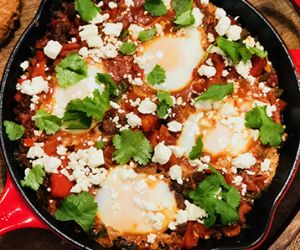 Shakshuka with Wagyu Hot Italian Sausage