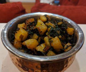 Potato and Swiss Chard Curry
