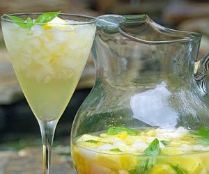 White Wine Sangria Recipe with Fresh Herbs