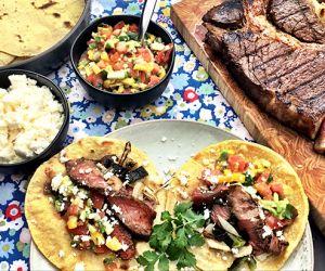 Coffee and Chile Marinated Fullblood Wagyu Steak Fajitas