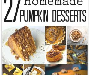 27 HOMEMADE PUMPKIN DESSERTS