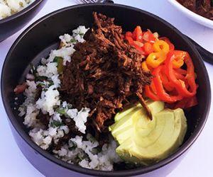 Wagyu Beef Barbacoa Bowls with Cilantro Cauliflower Rice