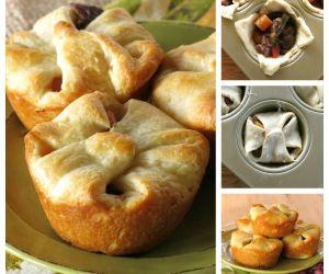 Mini Beef Pot Pies with Crescent Rolls