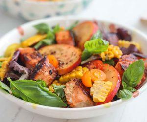 Salmon and Peach Salad