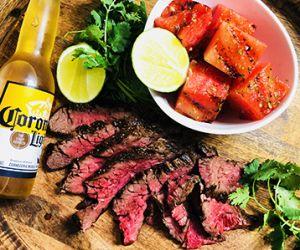 Corona Marinated Wagyu Bavette Steak & Grilled Watermelon