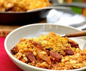 Fullblood Wagyu Smoked Kielbasa and Chicken Cassoulet