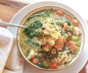 Paleo Creamy Kale Soup