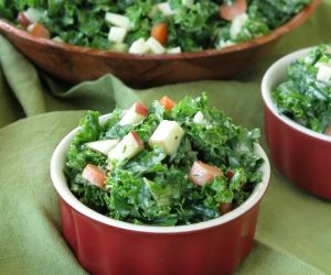 Kale Apple Slaw with Creamy Honey Mustard Dressing