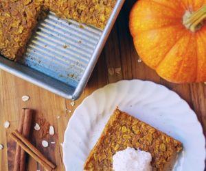Baked Pumpkin Spice Oatmeal Recipe