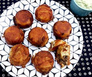 Wagyu Ground Beef Papas Rellenas (Stuffed Potatoes)
